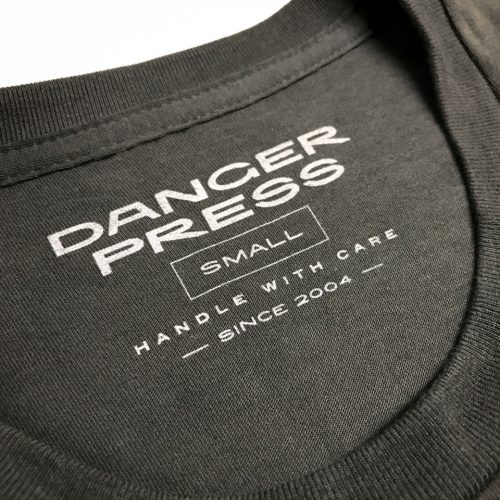 Danger Press screen printed neck tag