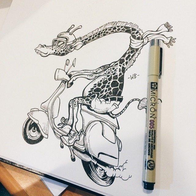 Wayan Bayu Ink Illustration