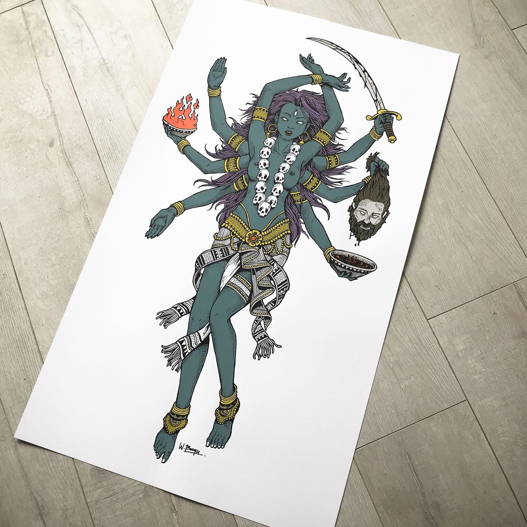 Kali print wood floor