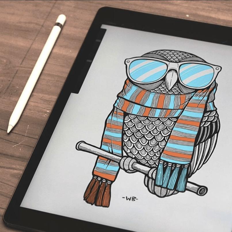 Wayan Bayu Owl with scarf