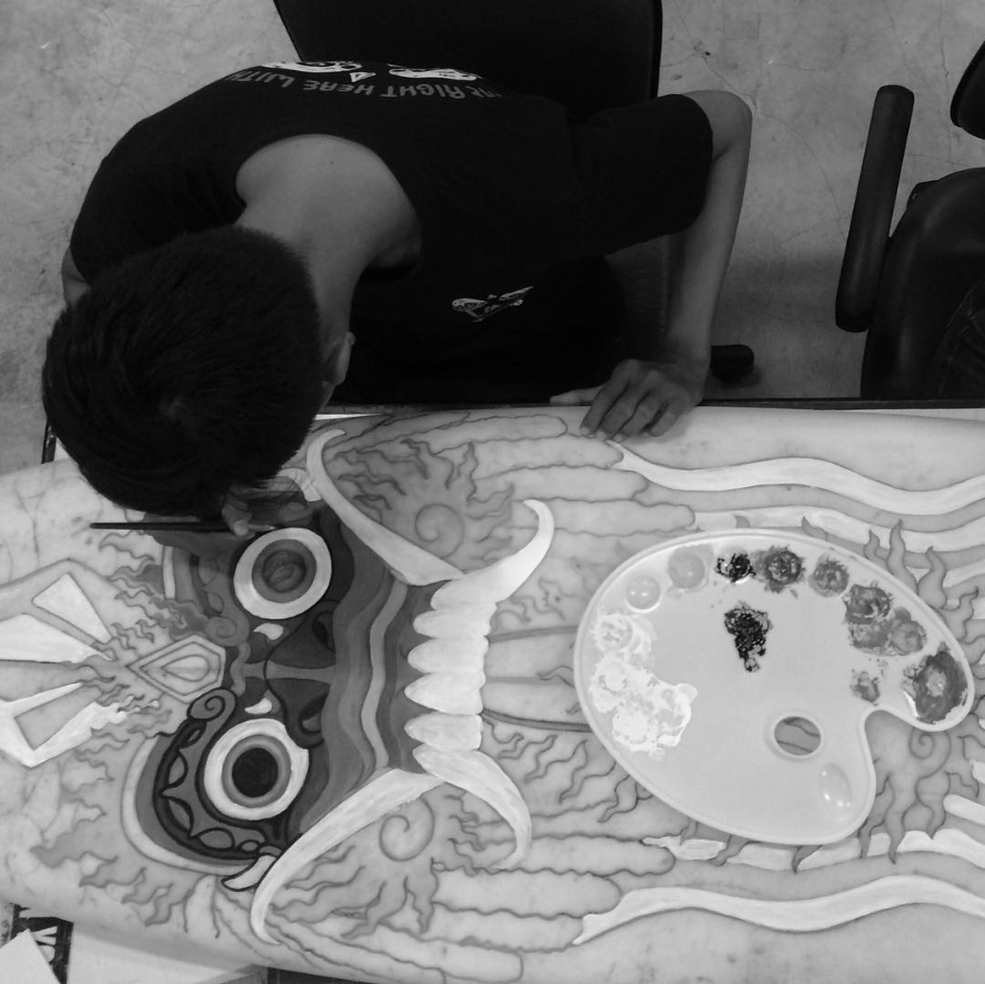Wayan Bayu Surf board sketch