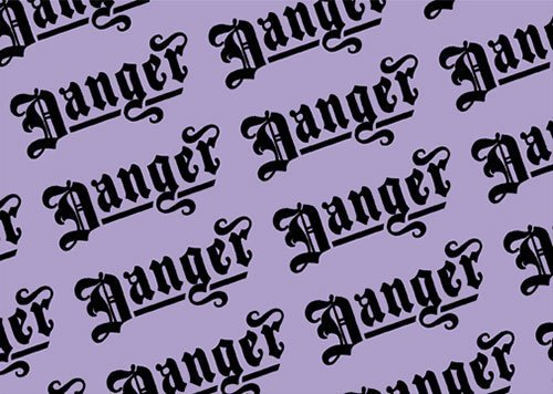 Danger blackletter