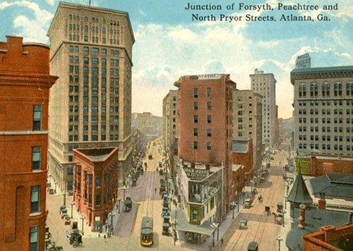 Atlanta Peachtree St Forsyth St North Pryer street
