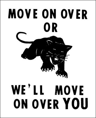 Move on over or we'll move on over you