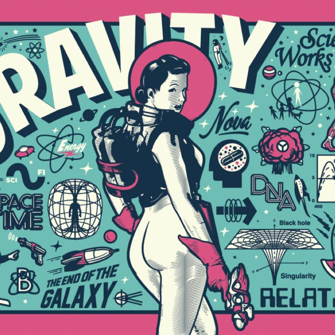 Tommy Bronx - Gravity screen printed poster