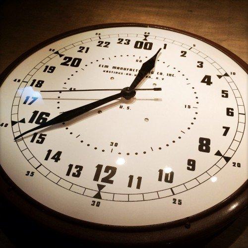 Vintage 24 Hour Electric Clock