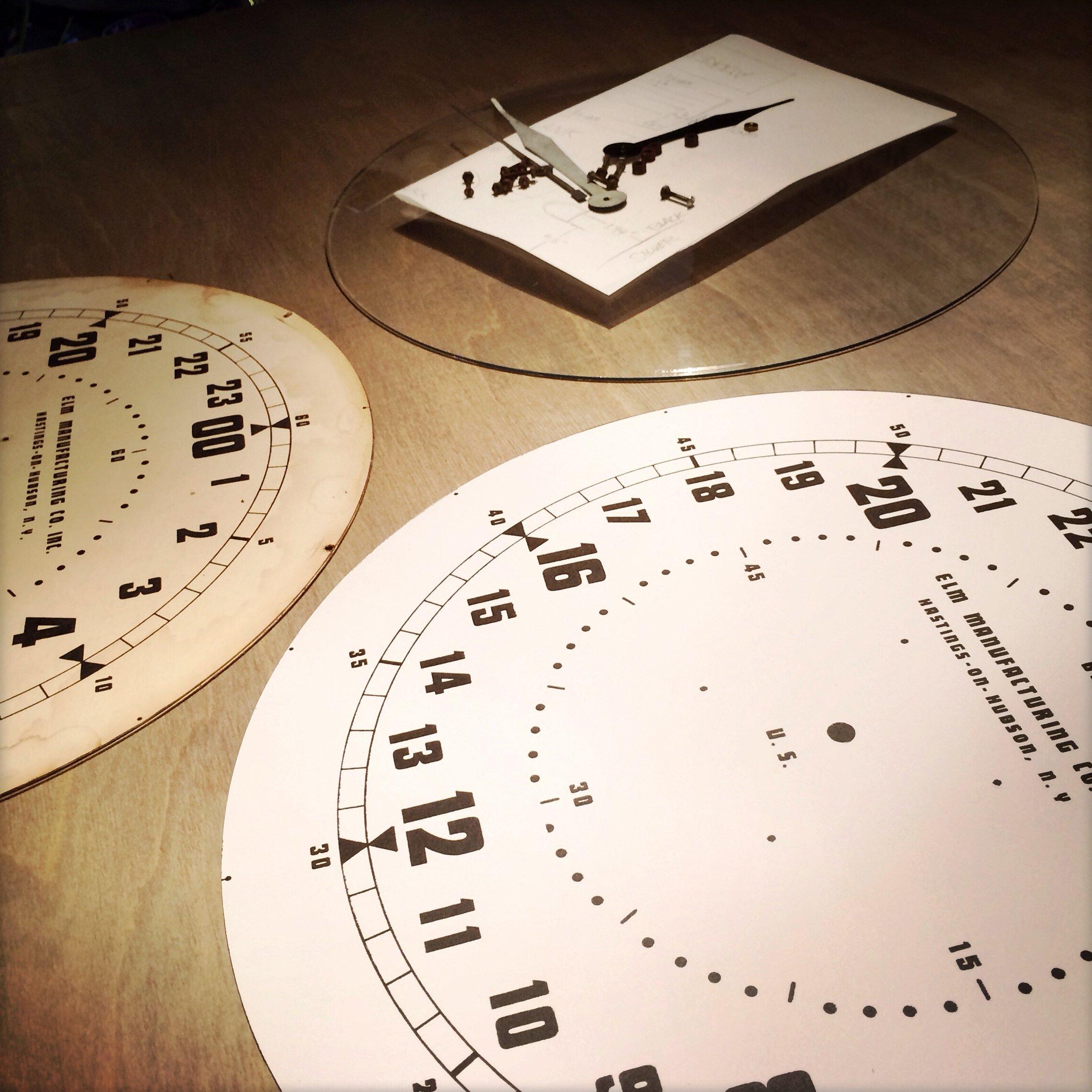 Vintage 24 Hour Electric Clock parts