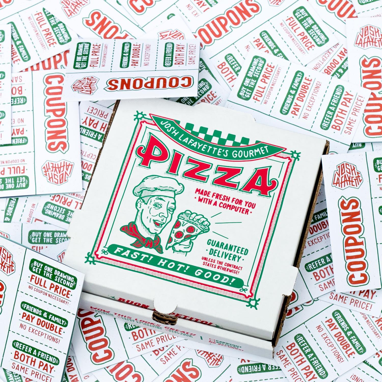 Josh LaFayette pizza box