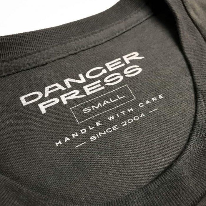 Danger Press screen printed neck tag