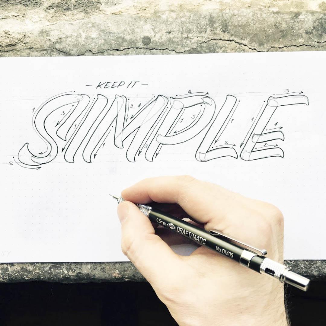 SIMPLE Pencil Lettering