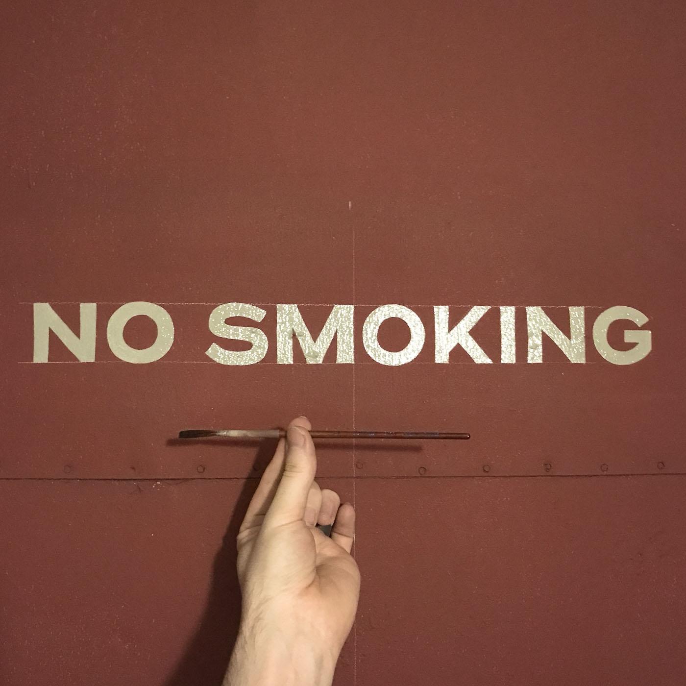 No Smoking block lettering