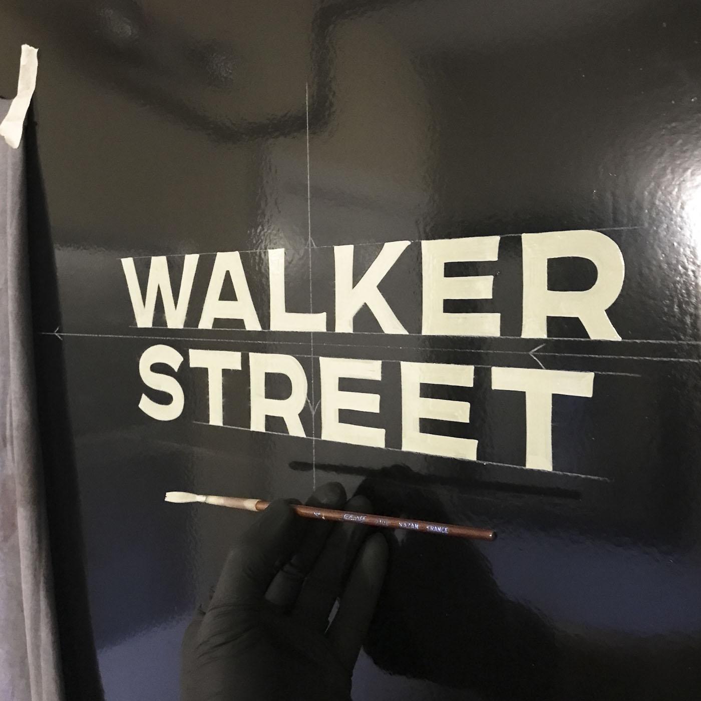 Walker Street block lettering