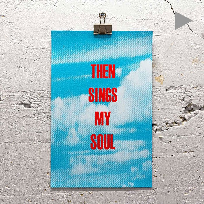 Then Sings My Soul print